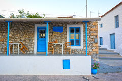 Picturesque tavern. View of a picturesque tavern in a Greek island Royalty Free Stock Photos