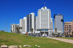 The picturesque Tel Aviv promenade in sunny day Stock Photography