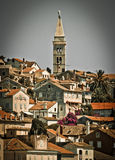Picturesque town of Mali Losinj - vertical view. Beautiful town of Mali Losinj, Croatia - vertical view Stock Photography