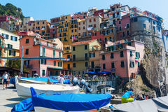 Picturesque town Manarola in the Cinque Terre, Italy Royalty Free Stock Photo