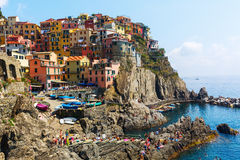 Picturesque town Manarola in the Cinque Terre, Italy Stock Photo