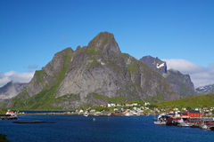 Picturesque town of Reine Royalty Free Stock Photography