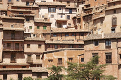 Picturesque town in Spain. Ancient houses. Albarracin. Teruel Royalty Free Stock Photos