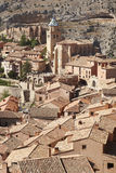 Picturesque town in Spain. Cathedral and ancient fortress. Albar Stock Image