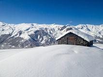 Picturesque traditional cabin in the Alps Royalty Free Stock Photography