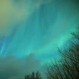 Picturesque Unique Northern Lights Aurora Borealis Over Lofoten Islands in Northern Part of Norway Stock Image