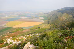 Picturesque valley in the Israeli Galilee. Royalty Free Stock Images