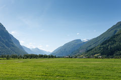 Picturesque valley between mountains Royalty Free Stock Photo