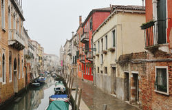 Picturesque venetian canal and historic buildings, Venice, Italy Royalty Free Stock Images