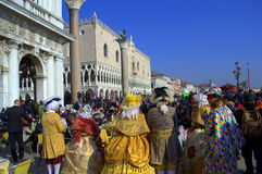 Picturesque Venice Carnival streets Royalty Free Stock Photos