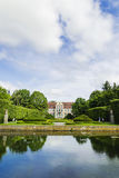 Picturesque view on abbots palace in Oliwa park in Gdansk, Poland Royalty Free Stock Photo