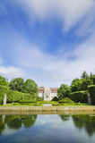 Picturesque view on abbots palace in Oliwa park in Gdansk, Poland Royalty Free Stock Images