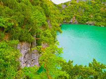 Picturesque view of Angthong national marine park Stock Photography