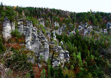 Picturesque view of Bastei Stock Photography