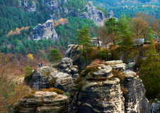 Picturesque view of Bastei Stock Images