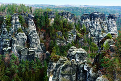 Picturesque view of Bastei Royalty Free Stock Image