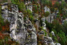 Picturesque view of Bastei Royalty Free Stock Photography
