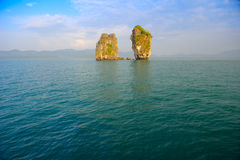 Picturesque view of calm sea royalty free stock photos