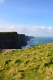 Picturesque View of the Cliff`s of Moher in Ireland Stock Images