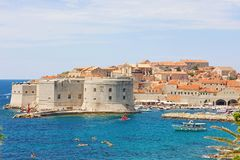 Picturesque view of Dubrovnik old town on Mediterranean Sea in Croatia, Europe royalty free stock image