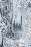 Picturesque view of frozen water on mountain Royalty Free Stock Photos