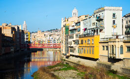 Picturesque view of Gerona with river Royalty Free Stock Image