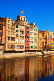 Picturesque view of Girona in day. Catalonia Royalty Free Stock Photo