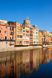Picturesque view of Girona in day time Stock Photos