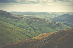 Picturesque view on the hills, Peak District National Park, Derb Stock Photo