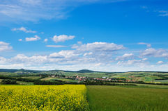 Picturesque view of hilly countryside area Royalty Free Stock Photography
