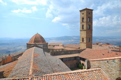 Picturesque view on historic buildings of Volterra in Tuscany, Italy Royalty Free Stock Photo