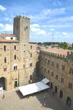 Picturesque view on historic buildings of Volterra in Tuscany, Italy Royalty Free Stock Photos