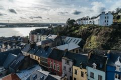 Picturesque view of the Irish city of Cobh. Picturesque view of row houses in Cobh, a small Irish coastal town Stock Photography