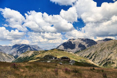 Picturesque view of the Italian alps at Mottolino Royalty Free Stock Photo