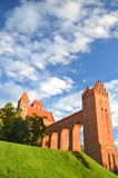 Picturesque view of Kwidzyn cathedral in Pomerania region, Poland Stock Photos