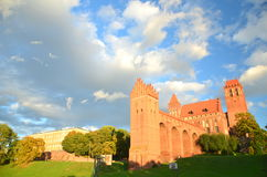 Picturesque view of Kwidzyn cathedral in Pomerania region, Poland Stock Image