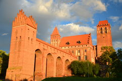 Picturesque view of Kwidzyn cathedral in Pomerania region, Poland Royalty Free Stock Photo