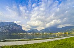 Picturesque view of Lake Como and Lecco city, Italy Royalty Free Stock Images