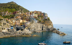 Picturesque view of Manarola harbour, Laguria Royalty Free Stock Images