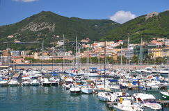 Picturesque view of marina in Salerno, Italy Royalty Free Stock Photography