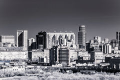 Picturesque view of the Moscow City in infrared Royalty Free Stock Photo