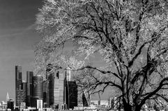 Picturesque view of the Moscow City in infrared Stock Image