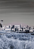 Picturesque view of the Moscow City in infrared Stock Photography