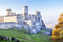 Picturesque view of Ogrodzieniec castle. Near Cracow, Poland. Stock Photography