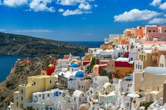 Picturesque view of Oia, Santorini, Greece Royalty Free Stock Photography