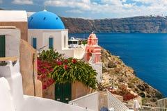 Picturesque view of Oia, Santorini, Greece Stock Photo