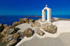Picturesque view of Oia, Santorini, Greece Stock Images