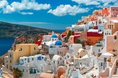 Picturesque view of Oia, Santorini, Greece Stock Photos