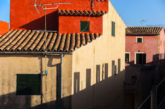 Picturesque view of the old buildings royalty free stock photo
