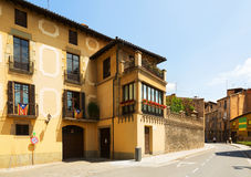 Picturesque view of old Catalan town. Vic Royalty Free Stock Image